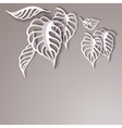 Paper Leaves Background vector image vector image