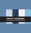 parallelogram pattern set frosty morning vector image vector image
