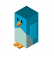 Penguin 3d icon vector image