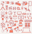 photography and videography icons vector image vector image