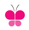 Pink butterfly business logo vector image vector image