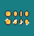 pixel art coin vector image
