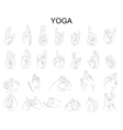 position of the hands in yoga in meditation vector image