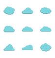 rain cloud icon set flat style vector image vector image