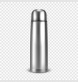 realistic 3d empty glossy metal vacuum vector image vector image