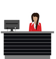 Reception desk vector image