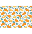 seamless mango pattern hand drawn doodle gourmet vector image vector image