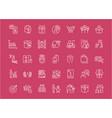 set line icons marketing vector image