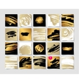 set of 20 black white and gold ink brushes grunge vector image vector image