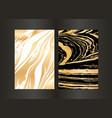 set of elegant black and gold brochure vector image vector image