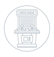 simple line drawn vintage game arcade cabinet icon vector image