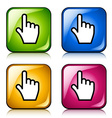 smooth cursor hand buttons vector image