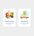 sushi restaurant chinese food landing page vector image