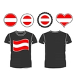 t-shirt with the flag of Austria vector image vector image