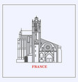 travel france landmark iconmost famous vector image