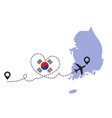 travel to south korea airplane concept vector image vector image