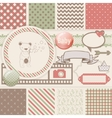 Vintage Design Elements for Scrapbook with vector image