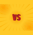 vs letters fight backgrounds comics style design vector image vector image