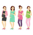 woman pregnant clothers vector image