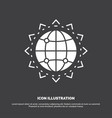 world globe seo business optimization icon glyph vector image vector image