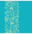 Yellow and blue flowers and leaves vertical vector image vector image