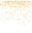 yellow confetti isolated on white background gold vector image vector image