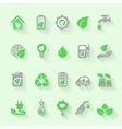 Ecology icons with environment green energy and vector image