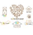 logo design template for pet shops set bad vector image