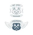 Set of Motor badges vector image