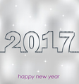 2017 Happy New Year for your backgrounds vector image vector image