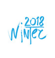 2018 happy new year winter or christmas background vector image vector image