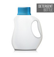 3d detergent bottle mock up blank plastic vector image vector image