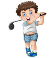 a chubby male golfer vector image vector image