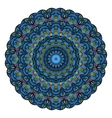 Blue Mandala Round Zentangle Pattern vector image