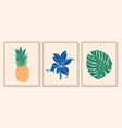 botanical wall art collection exotic plants vector image vector image
