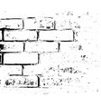 brick wall texture grunge distress overlay vector image vector image