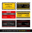 Business card taxi - eleventh set vector image