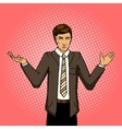 Businessman undecided pop art vector image vector image