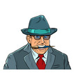 businessman with a pen in paper art style on white vector image