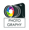 camera for photographer symbol vector image