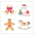 Christmas Line Style Icons vector image