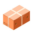 closed carton box icon isometric style vector image vector image