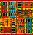 colorful background with african ethnic motifs vector image vector image