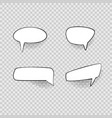 comic speech bubbles signs black thin line icon vector image vector image