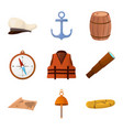 design adventure and sea icon set of vector image vector image