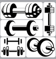 Dumbbell Signs Set vector image