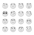 Emoticon set Collection of Emoji 3d emoticons vector image