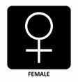female sign vector image
