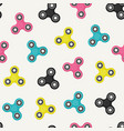 fidget spinners seamless pattern vector image