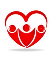 friendship love heart shape logo design vector image